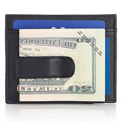 Alpine Swiss Men's Leather RFID Spring Money Clip Front Po