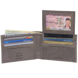 mens leather wallet 2 in 1 bifold