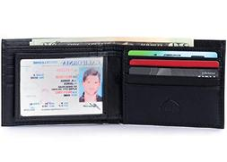 Alpine Swiss Mens Leather Wallet Multi Card Flip ID High Cap