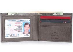 Alpine Swiss Mens Thin Bifold Wallet Top Grain Leather EZ Ac
