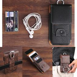 Mens Waist Bag Belt Loop Leather Carrying Holster Phone Pouc