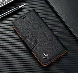 Mercedes iPhone Wallet Case Flip Black Leather Card Holder S