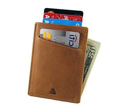 Andar Minimalist Front Pocket Leather Wallet Made of Full Gr