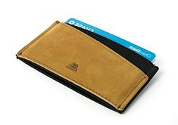 Andar Minimalist Ultra Slim Leather Elastic Front Pocket Wal