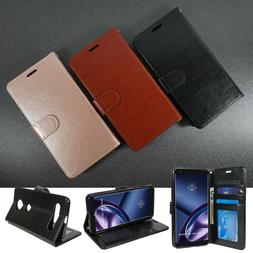 For LG STYLO 6 Premium PU Leather Wallet Case Flip Cover Fol