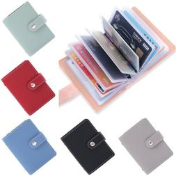 New 26 Cards Slim PU Leather ID Credit Card Holder Pocket Ca
