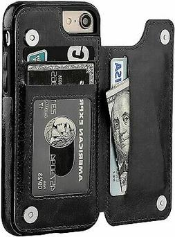 New iPhone SE 2  2020 Case Magnetic Wallet Kickstand for App