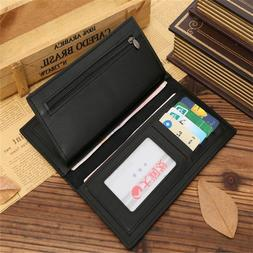 new men s business long leather wallet