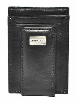New Dockers Men's Leather Front Pocket Card Case Wallet with