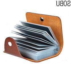 New PU Leather Function 24 Bits <font><b>Card</b></font> Cas