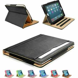 iPad Case Soft Leather Wallet Magnetic Smart Cover Sleep Wak