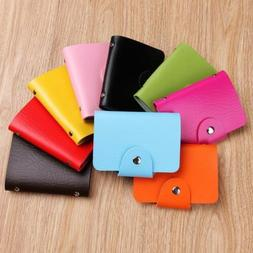 New Womens Holder Pocket Business ID Card Credit Bag Case Cu