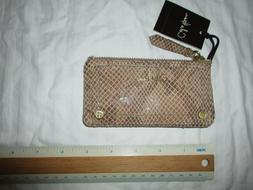 NWT Cole Haan Animal Snake Pattern women's key ring Card Cas
