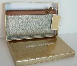 NWT MICHAEL KORS Boxed Money Pieces Lge Slim Card Case/Walle