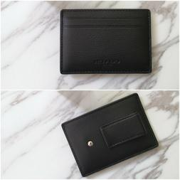 NWT Coach Men's Money Clip Card Holder Case Wallet Leather