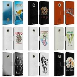 OFFICIAL QUEEN KEY ART LEATHER BOOK WALLET CASE FOR MOTOROLA