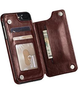 Marval.P Slim Premium Leather iPhone Wallet Case Card Slots