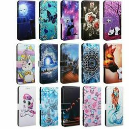 Pattern Leather Flip Wallet Case Cover For Samsung Galaxy A1