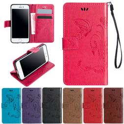 Pattern Stand Leather Magnetic Wallet Card Case Flip Cover F