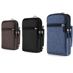 Cell Phone Pouch Wallet Belt Clip Holster Case Bag for iPhon