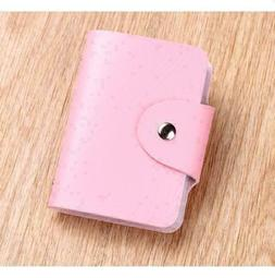 Pink Cute Womens Wallet Holder Pocket Business ID Card Credi