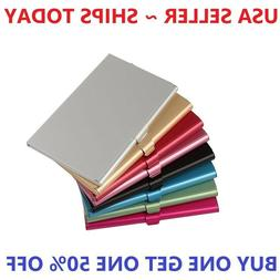 Pocket Stainless Steel Metal Business Card Holder Case ID Cr