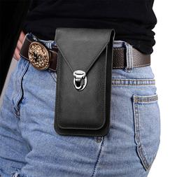 Premium PU Leather Phone Case Cover Flip Wallet Bag Holster