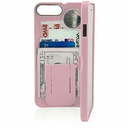 EYN Products Wallet Case for Apple iPhone 7 Plus - Pale Dogw