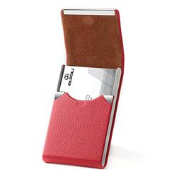 MaxGear PU Leather Business Card Holder for Women Slim Pocke