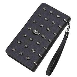 Punk Style Skeleton Skull Cellphone Bag and PU Leather Clutc