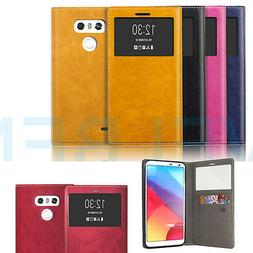 Quick On Off window leather wallet Card flip Shockproof Case