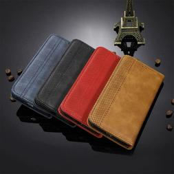 Retro Magnetic PU Leather Wallet Stand Case For LG V60 G8X V
