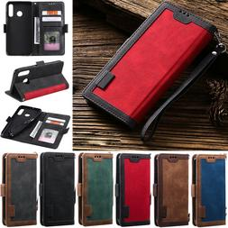 Retro Wallet Leather Flip Cover Case For Samsung A51 A20S A3