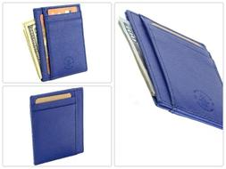 RFID Blocking Hammer Anvil Front Pocket Wallet Thin Slim Lea