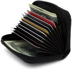 Zhoma RFID Blocking Genuine Leather Credit Card Case Holder