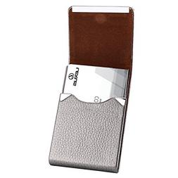 rfid blocking leather business card case slim