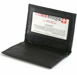 Alpine Swiss RFID Blocking Men's Leather Business Card Case