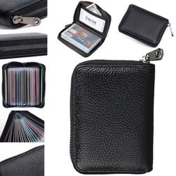 RFID Blocking Mini Leather 22 card Wallet Business Case Purs