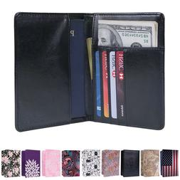 Travel Passport Holder Wallet RFID Blocking Card Case Cover