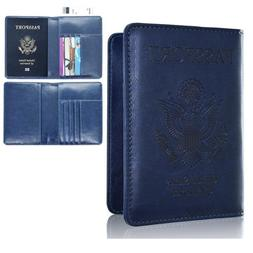 RFID Blocking Passport Wallet Case Leather Holder Cover Secu