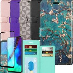 Wallet Case for Motorola Moto G Stylus PU Leather Phone Cove
