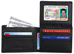 RFID Blocking Mens Wallet - Excellent Genuine Leather Bifold