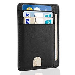 RFID Credit Card Holder Leather, MaxGear Leather Pocket Wall