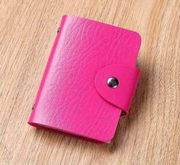 Rose Cute Womens Wallet Holder Pocket Business ID Card Credi