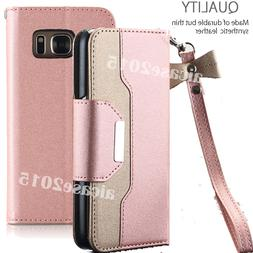 Rose Gold Case for Samsung Galaxy S7 EDGE Phone - Flip Walle