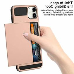 Vofolen Rose Gold Elegant Slim Wallet Case for iPhone 11 Lig