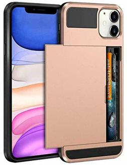 Vofolen Rose Gold Elegant Slim Wallet Case for iPhone 11 PRO