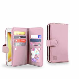 rose gold new Gear Beast Premium Dual Folio Wallet Case for