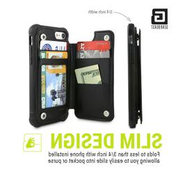 Gear Beast Rugged TopView Rear Folio iPhone Wallet Case For