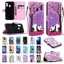 For Samsung Galaxy A10e/A20e Flip Leather Pattern Stand Card